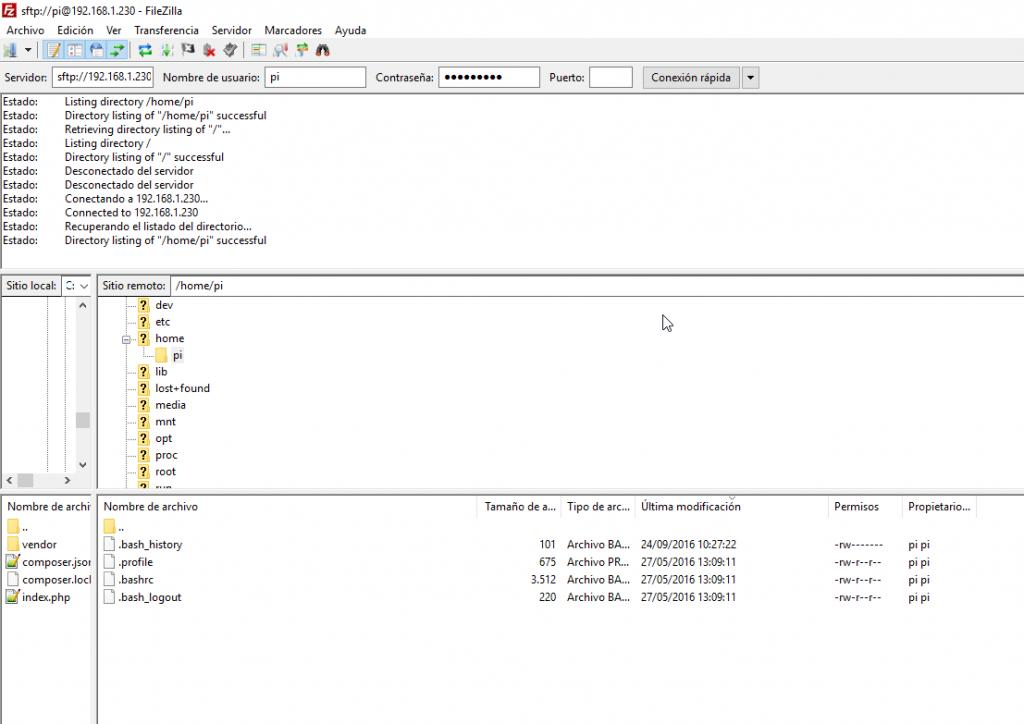 crear servidor web casa | acceso sftp