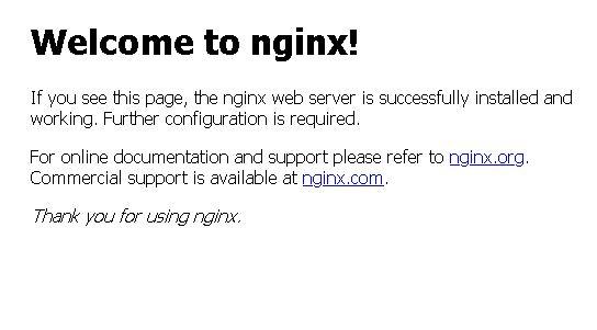 pagina de inicio nginx