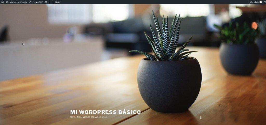 Mi wordpress básico – Otro sitio realizado con WordPress