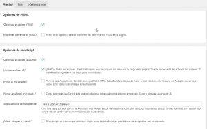 Opciones de Autoptimize WordPress